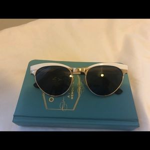 Spitfire white enamel sunglasses